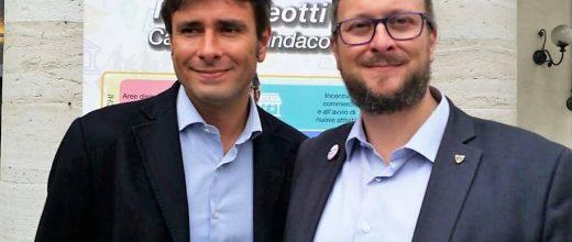 Di Battista e Aleotti a Como Insieme per la campagna elettorale 2017